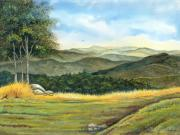 Horizon Paintings - California Spring by Vidyut Singhal