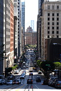 High Rise Buildings Framed Prints - California Street . San Francisco Framed Print by Wingsdomain Art and Photography