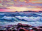 Storms Paintings - California Sunset by David Lloyd Glover