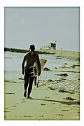 Manhatten Prints - California Surfer Print by Scott Pellegrin