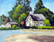 Grapevines Painting Originals - Calistoga Corner by Char Wood