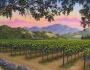 Napa Valley Vineyard Paintings - Calistoga Vineyard by Patrick ORourke
