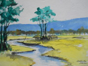 Calcutta Paintings - Call of hills by Shubhankar Adhikari