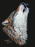 Wolf Howling Paintings - Call Of The Wild by Bobbylee Farrier
