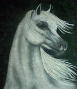 White Horse Pastels Originals - Call of the Wind by Diana Cochran