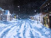 Snowy Night Prints - Call out the Plows Print by Jack Skinner