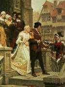 Wedding Painting Framed Prints - Call to Arms Framed Print by Edmund Blair Leighton