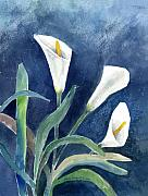 Calla Lily Paintings - Calla Lilies by Arline Wagner