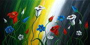 Gerbera Paintings - Calla Lilies by Uma Devi