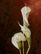 Calla Lily Paintings - Calla Lily No. 4 by Steven Logan