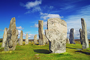 Outer Hebrides Framed Prints - Callanish Stones, Callanish, Isle Of Lewis, Outer Hebrides, Hebrides, Scotland Framed Print by Frank Krahmer