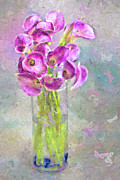 Butterflies Digital Art - Callas In A Vase With Butterflies by Jill Balsam