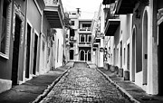 School Houses Framed Prints - Calle de Guijarro Framed Print by John Rizzuto
