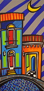 Puerto Rico Paintings - Calle Luna by Mary Tere Perez