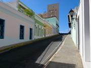 Inclined Prints - Calle Norzagaray San Juan Puerto Rico Print by George Oze