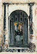 Photorealism Prints - Calle Tapachula - 2 doors open Print by Michael Earney