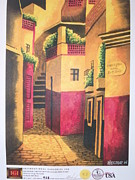 Guanajuato Paintings - Callejon Del Beso by Hector Hugo Resendiz