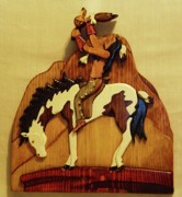 Intarsia Sculpture Framed Prints - Calling the Great Spirit Framed Print by Russell Ellingsworth