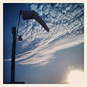Clouds Art - Calm. #airport #windsock #sky #clouds by Adam Romanowicz