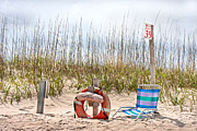 Beachscape Posters - Calm by the Sea Poster by Betsy A Cutler East Coast Barrier Islands