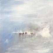 Pewter Paintings - Calm by Karen Ahuja