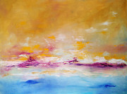 Ocean Paintings - Calm by Sarah Parsons
