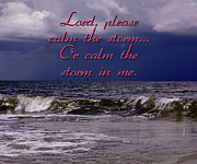 Storm Clouds Posters - Calm The Storm  Poster by Carolyn Marshall