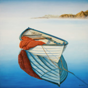 Fishing Painting Posters - Calm Waters Poster by Horacio Cardozo