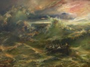 Atheist Paintings - Calming the storm by Tigran Ghulyan