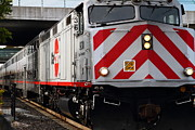 Train Stations Photos - Caltrain Locomotive at the Milbrae Train Station in San Francisco . 7D12362 by Wingsdomain Art and Photography