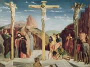 1506 Paintings - Calvary by Andrea Mantegna