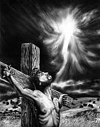 Jesus Drawings - Calvary by Peter Piatt