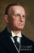 Coolidge Prints - Calvin Coolidge Print by Photo Researchers