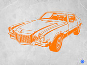 Old Paper Art Prints - Camaro Print by Irina  March