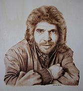 Celebrity Portrait Pyrography - Camaron by Jose Luis  San Roman