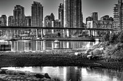 Cambie Bridge Framed Prints - Cambie Street Bridge Framed Print by Bal Kang
