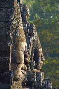 Siem Reap Metal Prints - Cambodia, Angkor, Bayon Temple, Xiii Th Century Metal Print by Bruno Morandi