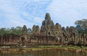 Siem Reap Photo Posters - Cambodias Banyan Temple Poster by Bill Bachmann - Printscapes