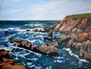 Visionary Artist Painting Originals - Cambria Coastline by Susan Tower
