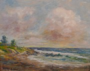 Cambria Paintings - Cambria Shore by Edward White