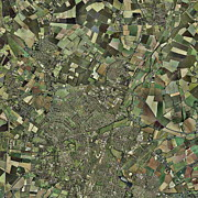Cambridge Metal Prints - Cambridge, Uk, Aerial Image Metal Print by Getmapping Plc