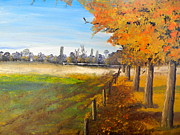 Dropped  Painting Prints - Camden Farm Print by Pamela  Meredith