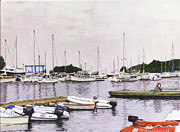 Camden Maine Marina Print by Thomas Michael Meddaugh
