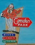 Sign Drawings Framed Prints - Camden Park Framed Print by Glenda Zuckerman
