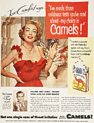 Endorsement Prints - Camel Cigarette Ad, 1951 Print by Granger