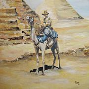 Ww1 Painting Originals - Camel Corp at Ease by Leonie Bell