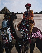 Kim Selig Prints - Camel Fair Print by Kim Selig
