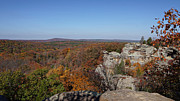 Fall Scenery Prints - Camel Rock in Autumn Print by Sandy Keeton