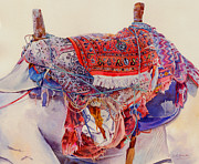 Print On Canvas Painting Prints - Camel Saddle Print by Dorothy Boyer