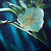 Camellia Paintings - Camellia Shadows by Lynne Baur